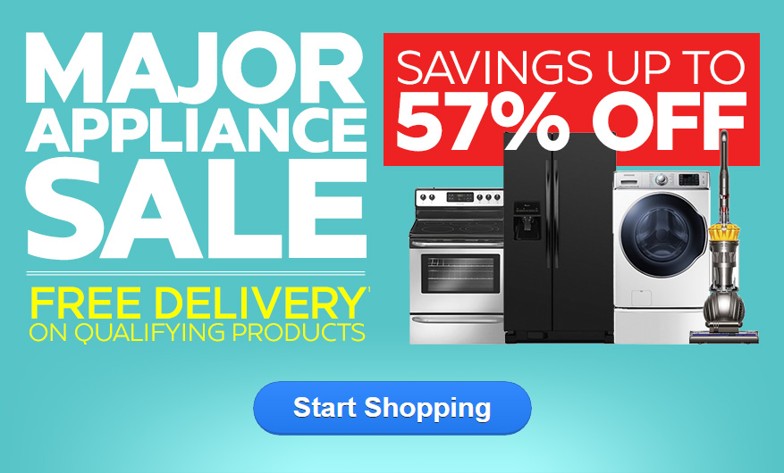 Major Appliance Sale - Savings up to 57% OFF - Ends Sunday!