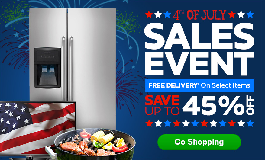 July 4th Sales Event - Save up to 45% Off + Free Delivery on select items!