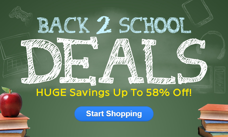 Back to School Deals - Up to 58% Off !